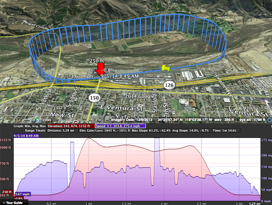 how to get altitude from google earth