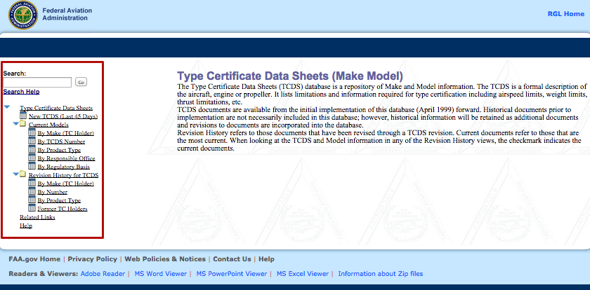 How Can I View The Type Certificate Data Sheet Tcds If I Need More