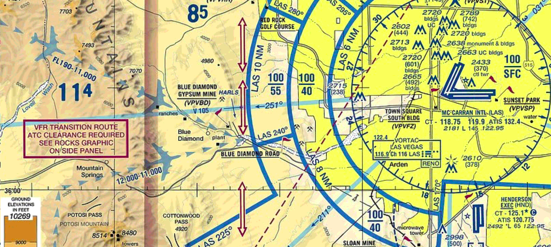 How do i view class b vfr transition route information foreflight in nevada near mccarran international klas there is a note to the west of the airport concerning the rocks graphic for a vfr transition route ccuart Choice Image